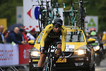 Dylan Groenewegen (NED) Loto NL-Jumbo in action during Stage 1, a 14km individual time trial around Dusseldorf, of the 104th edition of the Tour de France 2017, Dusseldorf, Germany. 1st July 2017.<br /> Picture: Eoin Clarke | Cyclefile<br /> <br /> <br /> All photos usage must carry mandatory copyright credit (&copy; Cyclefile | Eoin Clarke)