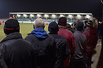 Gretna 0 Dalbeattie Star 0, 11/03/2016. Raydale Park, Lowland League. Spectators watching the second-half action at Raydale Park, as Gretna take on Dalbeattie Star in a Scottish Lowland League fixture which ended 0-0. The match was one of six arranged by the league and GroundhopUK over the weekend to accommodate groundhoppers, fans who attempt to visit as many football venues as possible. Around 100 fans in two coaches from England participated in the 2016 Lowland League Groundhop and they were joined by other individuals from across the UK which helped boost crowds at the six featured matches. Photo by Colin McPherson.