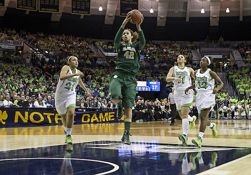 December 05, 2012:  Baylor center Brittney Griner (42) goes up for a shot during NCAA Women's Basketball game action between the Notre Dame Fighting Irish and the Baylor Bears at Purcell Pavilion at the Joyce Center in South Bend, Indiana.  Baylor defeated Notre Dame 73-61.