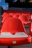 Toronto, ON, Canada - Friday Dec. 09, 2016: BMO Field, snow on seats during training prior to MLS Cup at BMO Field.
