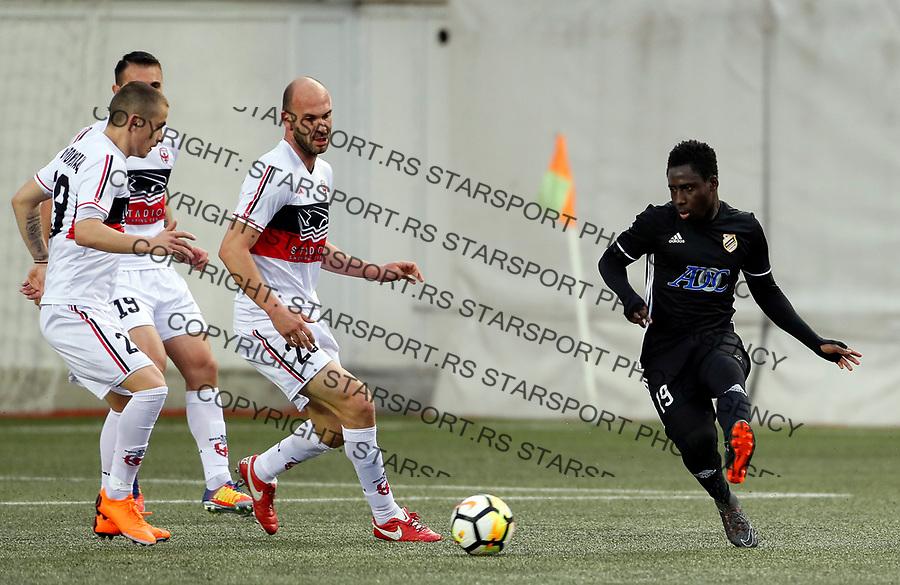 Owusu Samuel  Milos Pavlovic Vozdovac - Cukaricki super liga Srbije 5.4.1018. April 5. 2018. (credit image & photo: Pedja Milosavljevic / STARSPORT)