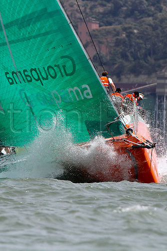 09.06.2012.  Lisbon, Portugal - ..Groupama sailing team ..during the In-Port Race in Lisbon which they won, in the eve of the begining of leg 8 between Lisbon and Lorient, France.....