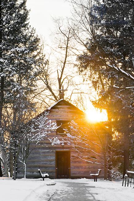 Jan. 22, 2013; Log Chapel in winter..Photo by Matt Cashore/University of Notre Dame