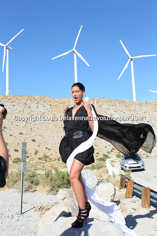 Sheryfa Luna<br /> July 2011<br /> Sheryfa Luna video clip shooting on location in Los Angeles<br /> All pictures Louis Delavenne/revolutionpix/USM
