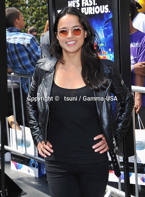 Michelle Rodriguez   at the Turbo-Charged Party and Surprise Concert at the Nokia Plaza in Los Angeles.