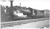3/4 left side view of K-28 #475 with passenger train.<br /> D&amp;RGW    Taken by Rogers, Donald E. A. - 7/2/1933
