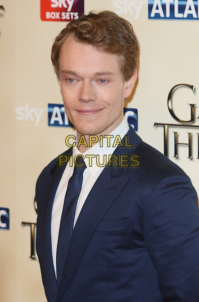 LONDON, ENGLAND - MARCH 18: Alfie Allen arrives for the world premiere of Game of Thrones Season 5 at Tower of London on March 18, 2015 in London, England<br /> CAP/ROS<br /> &copy; Steve Ross/Capital Pictures