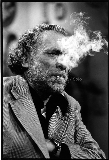 Charles Bukowski ( 1926-1994 ) on TV show Apostrophes in september 1978. Photo by Ulf Andersen.