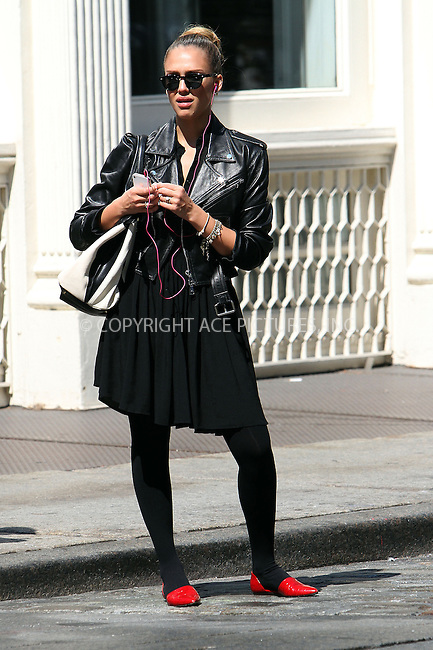 WWW.ACEPIXS.COM....September 13 2012, New York City....Actress Jessica Alba enjoys the warm weather as she walks around Soho on September 13 2012 in New York City....By Line: Nancy Rivera/ACE Pictures......ACE Pictures, Inc...tel: 646 769 0430..Email: info@acepixs.com..www.acepixs.com