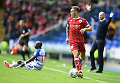 9th September 2017, Madejski Stadium, Reading, England; EFL Championship football, Reading versus Bristol City; Josh Brownhill of Bristol City wins the ball while Jaap Stam of Reading appeals for a foul on Modou Barrow of Reading