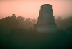 Tikal, Mayan temple, Guatemala, El Petén department, Central America, jungle, sunrise,
