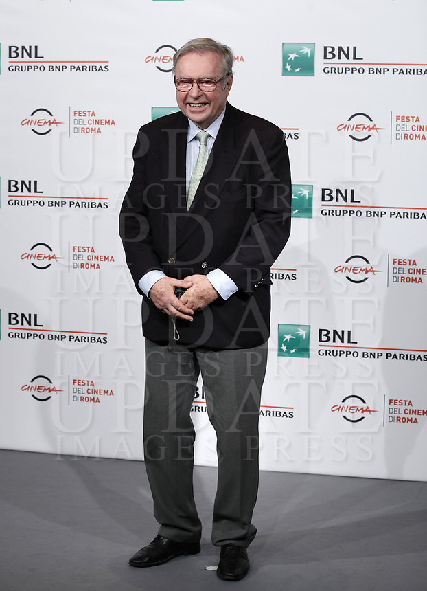 "Il regista polacco Krzystof Zanussi posa durante un photocall per la presentazione del suo film ""Eter"" al Festival Internazionale del Film di Roma, 19 ottobre 2018.<br /> Polish director Krzystof Zanussi poses during the photocall of his movie ""Eter"" during the international Rome Film Festival at Rome's Auditorium, on October 19, 2018.<br /> UPDATE IMAGES PRESS/Isabella Bonotto"