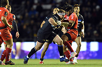 Henry Thomas of Bath Rugby takes on the Toulon defence. European Rugby Champions Cup match, between RC Toulon and Bath Rugby on December 9, 2017 at the Stade Mayol in Toulon, France. Photo by: Patrick Khachfe / Onside Images