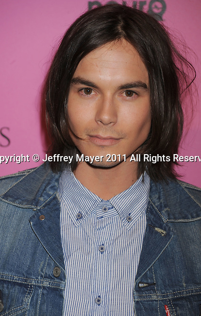 """LOS ANGELES, CA - MAY 12: Tyler Blackburn arrives to the Victoria's Secret 6th Annual """"What Is Sexy? List: Bombshell Summer Edition"""" Pink Carpet Event at The Beverly on May 12, 2011 in Los Angeles, California."""