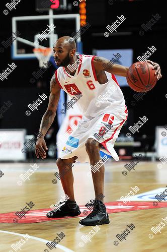 2011-02-13 / Seizoen 2010-2011 / Basketbal / Antwerp Giants - Belgacom Liège / Ralph Biggs van de Antwerp Giants..Foto: mpics