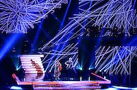 ATENCAO EDITOR: FOTO EMBARGADA PARA VEICULOS INTERNACIONAIS. - RIO DE JANEIRO, RJ,19 DE SETEMBRO 2012 - PREMIO MULTISHOW 2012- Paula Fernandes e Michel Telo na cerimonia de entrega do Premio Multishow  na noite desta terca dia 18 de setembro, no HSBC Arena, na Barra da Tijuca, zona oestedo Rio de Janeiro.(FOTO: MARCELO FONSECA / BRAZIL PHOTO PRESS).
