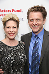 Marin Mazzie and Jason Danieley attend The Actors Fund Annual Gala at the Marriott Marquis on 5/8//2017 in New York City.