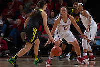 Stanford, CA - January 6, 2017: Stanford Women's Basketball faces the University of Oregon at Maples Pavilion. The Cardinal won 81-60.