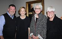 NWA Democrat-Gazette/CARIN SCHOPPMEYER Stace Treat (from left), Helen Porter, Jackye Finch and Sandy Edwards visit a the Stuart Davis preview Sept. 14.