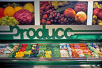 Produce, Department American Food, Produce, Super Market, Red, Green, Bell Peppers, Tomatoes, String Beans, Celery, Carrots