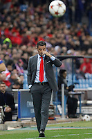 Olympiacos´s coach Michel during Champions League soccer match between Atletico de Madrid and Olympiacos at Vicente Calderon stadium in Madrid, Spain. November 26, 2014. (ALTERPHOTOS/Victor Blanco) /NortePhoto