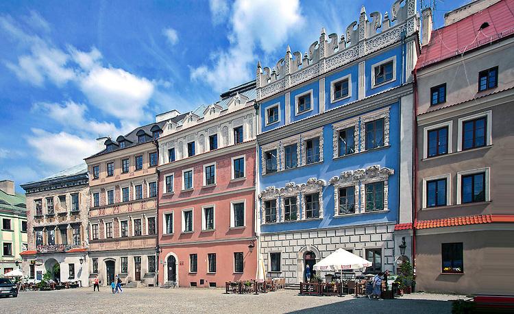 Zabytkowe kamienice na rynku w Lublinie