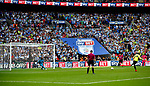 Michael Hefele of Huddersfield Town has a penalty saved during the SkyBet Championship Play Off Final match at the Wembley Stadium, England. Picture date: May 29th, 2017.Picture credit should read: Matt McNulty/Sportimage