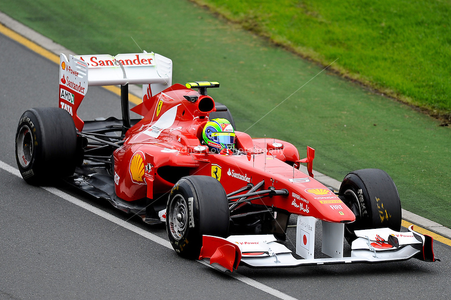 MELBOURNE, 25 MARCH - Felipe Massa (Brazil) driving the Scuderia Ferrari Marlboro car (6) during practise session one of the 2011 Formula One Australian Grand Prix at the Albert Park Circuit, Melbourne, Australia. (Photo Sydney Low / syd-low.com)