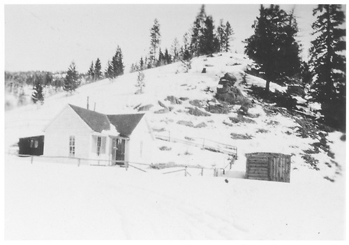 Small residence in Ruby, off the Floresta Branch near Irwin.<br /> Ruby, CO  ca. 1925