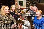 Enjoying the School of Music Evita fundraiser Table Quiz in the Brogue on Friday were Inga Grubinskaite, Georgina Hobert, Brian Hobbert, Aidan Hobbert, Paddy Hobbert, Mary Hobbert