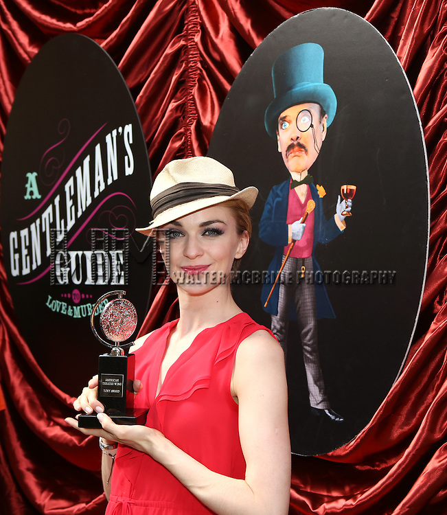 Lisa O'Hare  during the cast and fan Tony Award celebration outside 'A Gentleman's Guide to Love and Murder'  at Walter Kerr Theatre on June 18, 2014 in New York City..