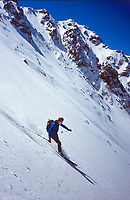 Ski descent of Djebel Toubkal (4167 m), High Atlas, Morocco, 2017