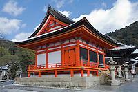 Kyoto City,  Japan<br /> Kiyomizu Temple, bell tower building