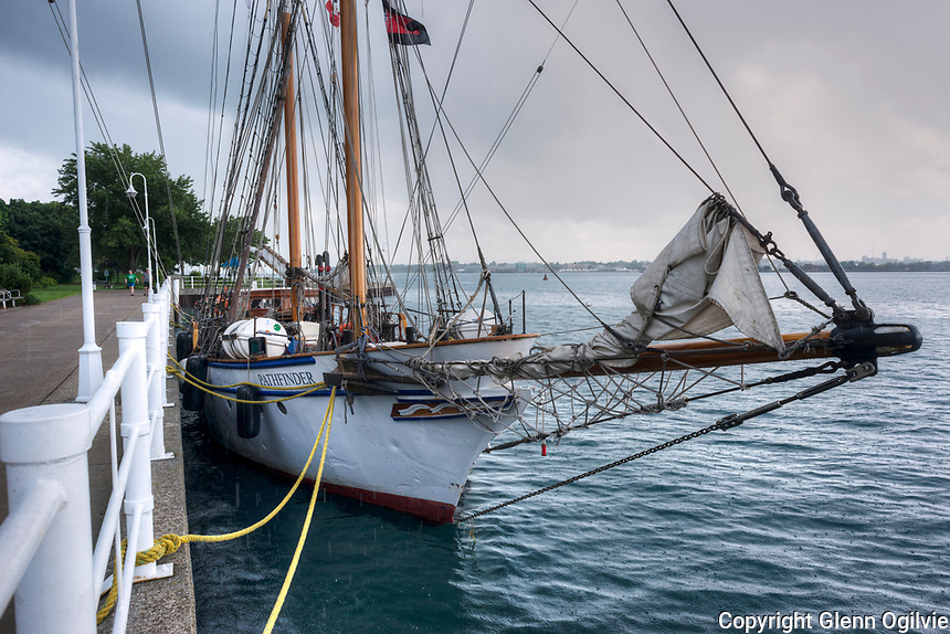 The sailboats  Playfair and Pathfinder of the Toronto Brigantine Inc., made a port stop in Sarnia to pick up supplies  and make repairs before heading off to Bayfield on a delivery run. The two training ships will take on upwards of 20 trainees in Bayfield for the next leg of summer voyage to Penetanguishene.