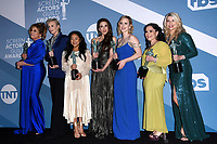 LOS ANGELES - JAN 19:  Caroline Aaron, Jane Lynch, Stephanie Hsu, Marin Hinkle, Rachel Brosnahan, Alex Borstein, Matilda Szydagi at the 26th Screen Actors Guild Awards at the Shrine Auditorium on January 19, 2020 in Los Angeles, CA