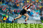 Kerry in action against Seamus O'Shea Mayo in the All Ireland Semi Final in Croke Park on Sunday.