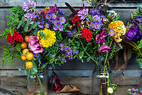 Fresh cut flowers at a farm market, Delaware, USA.