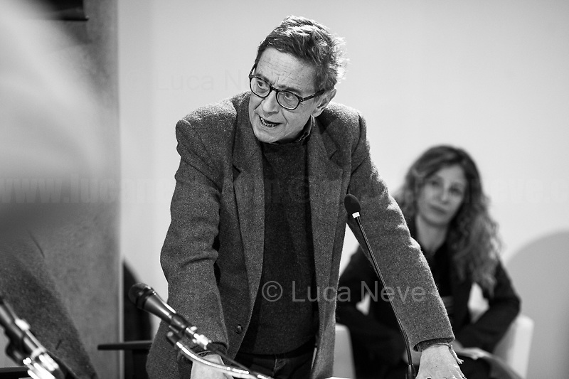 """(From L to R) Lodato, Natoli.<br /> <br /> Rome, 08/02/19. Moby Dick Library in Garbatella & Antimafia Duemila(2.) held the presentation of the book """"Il Patto Sporco"""" (The Dirty Pact. The Trial State-mafia in the Story [narrated] by his Protagonist, Chiarelettere,1.) hosted by the author of the book Saverio Lodato (Journalist & Author), Antonino 'Nino' Di Matteo (Protagonist of the book, Antimafia Magistrate of Palermo, member of the DNA - Antimafia & Antiterrorism National Directorate - who """"prosecuted the Italian State for conspiring with the Mafia in acts of murder & terror"""",3.4.5.6.) & Giorgio Bongiovanni (Editor of Antimafia Duemila). Chair of the event was Silvia Resta (Journalist & Author). Readers were: Bianca Nappi & Carlotta Natoli (both Actresses). From the back cover of the book: """"Let us ask ourselves why politics, institutions, culture, have needed the words of judges to finally begin to understand…A handful of magistrates and investigators have shown not to be afraid to prosecute the [Italian] State. Now others must do their part too"""" (Nino Di Matteo). """"In the pages of this book I wanted the magistrate, the man, the protagonist and the witness to speak about a trial destined to leave its mark"""" (Saverio Lodato). From the book online page: """"The attacks to Lima [politician], Falcone & Borsellino [Judges], the bombs in Milan, Florence, Rome, the murders of valiant police commissioners & officers of the carabinieri. The [Ita] State on its knees, its best men sacrificed. However, while the blood of the massacres was still running there were those who, precisely in the name of the State, dialogued and interacted with the enemy. The sentence of condemnation of Palermo [""""mafia-State negotiation"""" trial which is told in the book], against the opinion of many 'deniers', proved that the negotiation not only was there but did not avoid more blood. On the contrary, it provoked it""""(1.).<br /> Footnotes & links provided at 2nd & last page."""