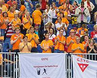 Switserland, Genève, September 20, 2015, Tennis,   Davis Cup, Switserland-Netherlands, Dutch supporters<br /> Photo: Tennisimages/Henk Koster