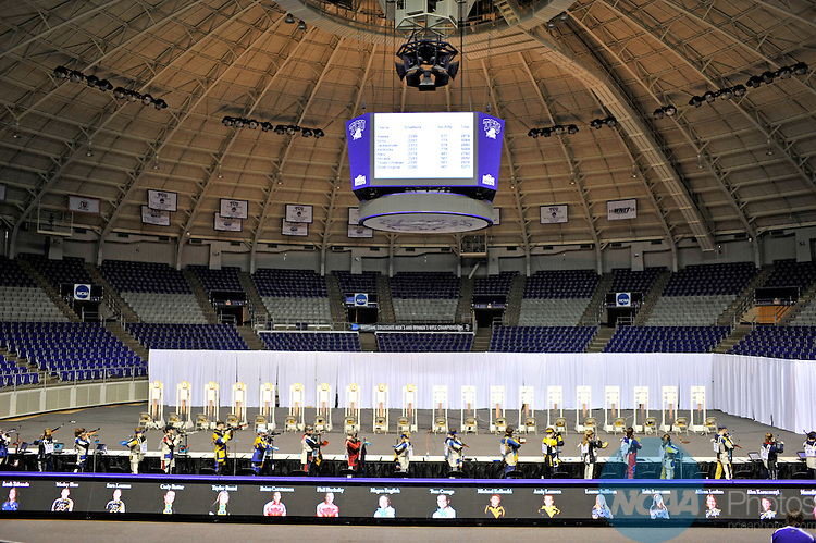 14 MAR 2009:  Athletes compete during the Division I Men's and Women's Rifle Championship held at the Daniel Meyer Coliseum on the Texas Christian University campus in Fort Worth, TX.  Michael Clements/NCAA Photos