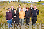 Resident's from Laharn, Killorglin who are asking the Council improve the landscape of their land   beside the main road into Killorglin town l-r: John Whelan, Mick O'Leary, Mary Whelan, Johnny Rae, Bridie Moriarty, Paddy Moriarty, Ann O'Sullivan, Jack O'Sullivan and Michael O'Shea....
