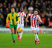 9th February 2019, bet365 Stadium, Stoke-on-Trent, England; EFL Championship football, Stoke City versus West Bromwich Albion; Joe Allen of Stoke City runs into attack