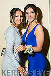 Christine McCarthy and Katie Quill, pictured at Pobalscoil Inbhear Scéine, Kenmare Debs, held at the Brandon Hotel, Tralee, on Friday night last.