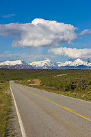 Richardson highway passes through the Alaska Range mountains, Interior, Alaska.