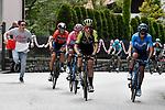 Simon Yates (GBR) Mitchelton-Scott, Maglia Rosa Richard Carapaz (ECU) Movistar Team and Vincenzo Nibali (ITA) Bahrain-Merida climb the Colma di Sormano during Stage 15 of the 2019 Giro d'Italia, running 232km from Ivrea to Como, Italy. 26th May 2019<br /> Picture: Fabio Ferrari/LaPresse | Cyclefile<br /> <br /> All photos usage must carry mandatory copyright credit (© Cyclefile | Fabio Ferrari/LaPresse)