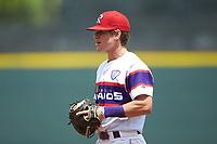 Winston-Salem Rayados first baseman Zach Remillard (7) on defense against the Potomac Nationals at BB&T Ballpark on August 12, 2018 in Winston-Salem, North Carolina. The Rayados defeated the Nationals 6-3. (Brian Westerholt/Four Seam Images)