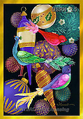 Randy, CHRISTMAS SYMBOLS, WEIHNACHTEN SYMBOLE, NAVIDAD SÍMBOLOS, paintings+++++Bird-Ornaments,USRW15,#xx#
