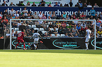 Alfa Semedo of Nottingham Forest scores the opening goal during the Sky Bet Championship match between Swansea City and Nottingham Forest at the Liberty Stadium in Swansea, Wales, UK. Saturday 14 September 2019