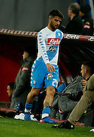 Lorenzo Insigne  during the  italian serie a soccer match,between SSC Napoli and Atalanta      at  the San  Paolo   stadium in Naples  Italy , February 26, 2017