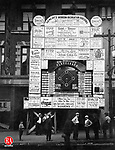 """Crowds gathered in front of this playograph in front of the Waterbury Democrat om hopes to """"watch"""" the World Series in Waterbury, October 1926."""